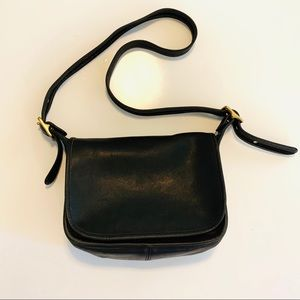 Vintage COACH med-large leather saddle bag